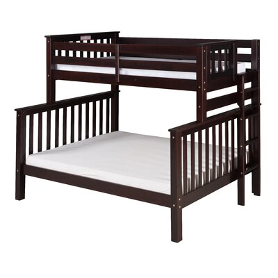 Santa Fe Mission Tall Bunk Bed Finish: Cappuccino, Size: Twin Over Full