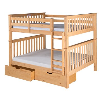 Santa Fe Mission Bunk Bed with Storage Finish: Natural, Size: Twin Over Twin