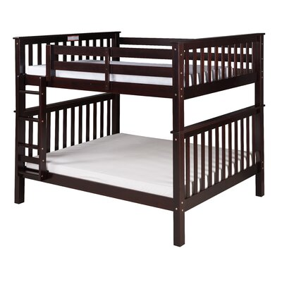 Santa Fe Mission Bunk Bed Size: Full Over Full, Finish: Cappuccino