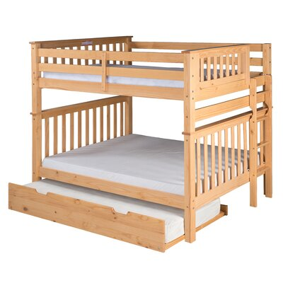 Santa Fe Mission Tall Bunk Bed with Trundle Finish: Natural, Size: Full Over Full