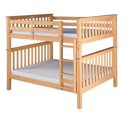 Santa Fe Mission Bunk Bed Size: Full Over Full, Color: Natural