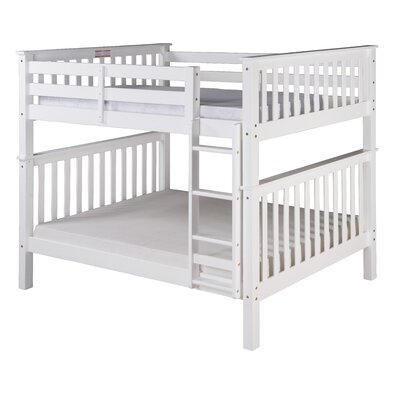 Santa Fe Mission Bunk Bed Size: Full Over Full, Finish: White