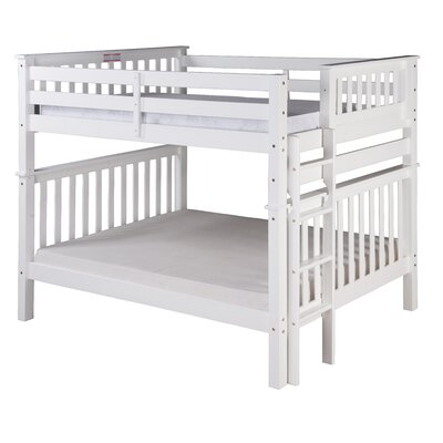 Santa Fe Mission Tall Bunk Bed Size: Full Over Full, Color: White