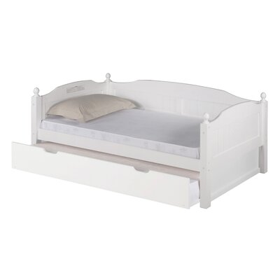 Expanditure Day Bed with Twin Trundle Finish: White