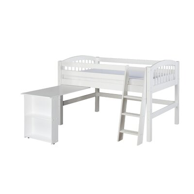 Twin Low Loft Bed Finish: White