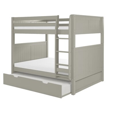 Amani Full Over Full Bunk Bed with Trundle Color: Grey