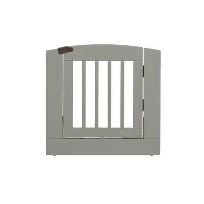 Ruffluv Individual Panel Dog Gate with Door Size: Medium (24 H x 24 W x 0.75 L), Finish: Grey