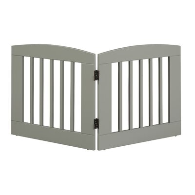 Ruffluv 2 Panel Expansion Dog Gate Size: Medium (24 H x 48 W x 0.75 L), Finish: Grey