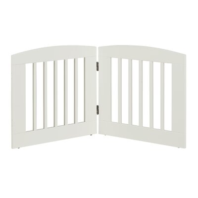 Gale 2 Panel Expansion Dog Gate Size: Medium (24 H x 48 W x 0.75 L), Finish: White