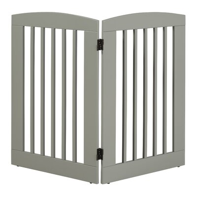Ruffluv 2 Panel Expansion Dog Gate Size: Large (36 H x 48 W x 0.75 L), Finish: Grey