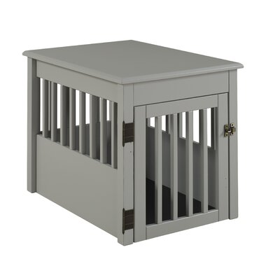 Gale Pet Crate Size: 24 H x 21 W x 30 D, Color: Gray