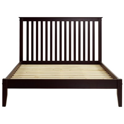 West Highland Platform Bed Finish: Cappuccino, Size: Queen