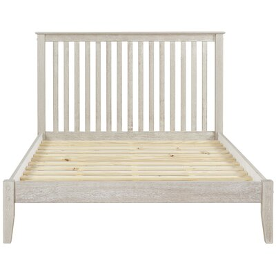 West Highland Platform Bed Finish: Weathered White, Size: Queen