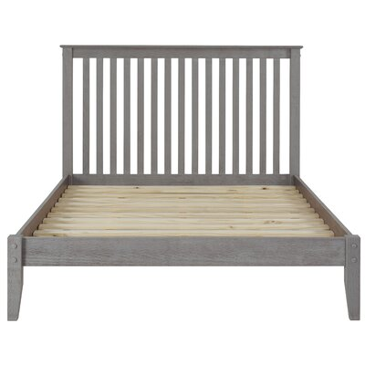 West Highland Platform Bed Finish: Weathered Gray, Size: Queen