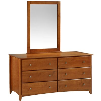 Axelrod 6 Drawer Double Dresser with Mirror