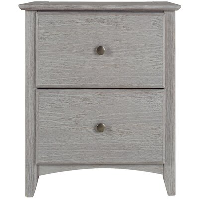 Avalon 2 Drawer Nightstand Finish: Weathered Gray