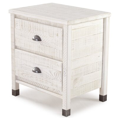 Cathryn 2 Drawer Nightstand Color: Shabby White