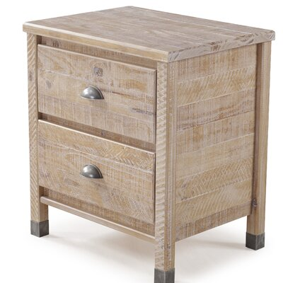 Cathryn 2 Drawer Nightstand Color: Barnwood
