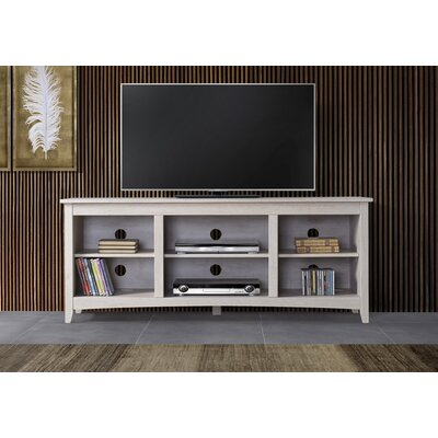 Dimatteo 60-70 TV Stand Color: White, Width of TV Stand: 60