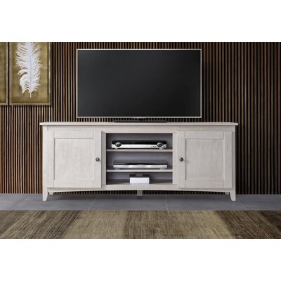 Cooke 60-70 TV Stand Color: White, Width of TV Stand: 60