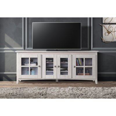 Tesfai 60-70 TV Stand Color: White, Width of TV Stand: 60