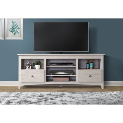 Fiala 60-70 TV Stand Color: White, Width of TV Stand: 60