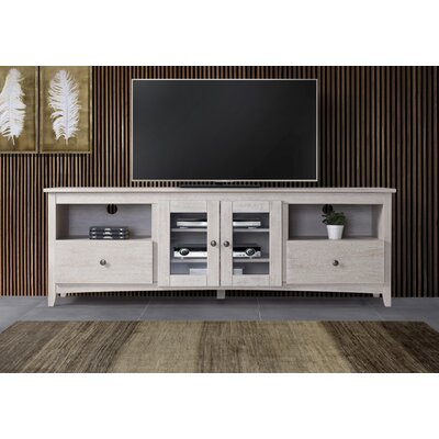 Burger 60-70 TV Stand Color: White, Width of TV Stand: 60