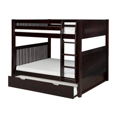 Delaware Full Over Full Bunk Bed with Twin Trundle Mission Headboard Color: Cappuccino