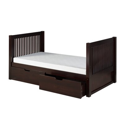 Digennaro Twin Platform Bed with Drawer Finish: Cappuccino