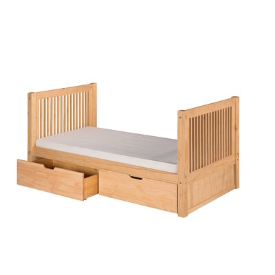 Digennaro Twin Platform Bed with Drawer Finish: Natural