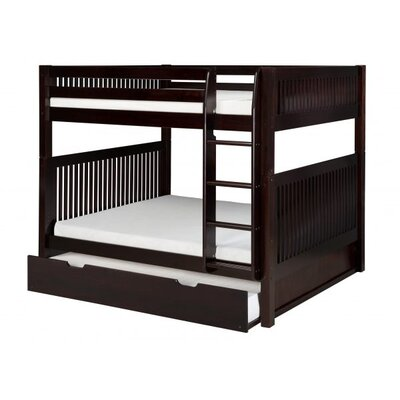 Full Over Full Bunk Bed with Trundle Color: Cappuccino