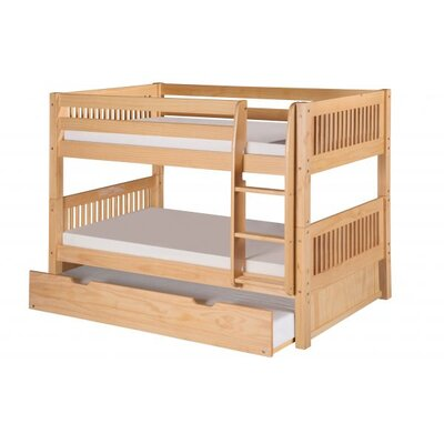 Full Over Full Bunk Bed with Trundle Color: Natural