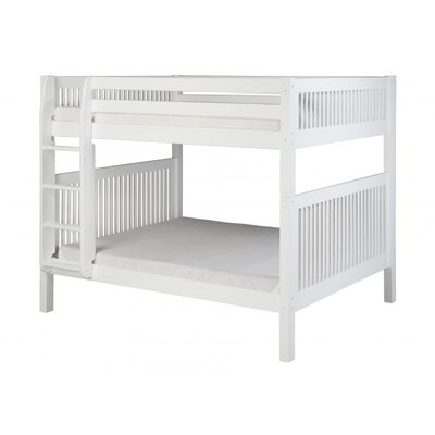 Full Over Full Bunk Bed Color: White