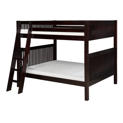 Full over Full Bunk Bed Finish: Cappuccino