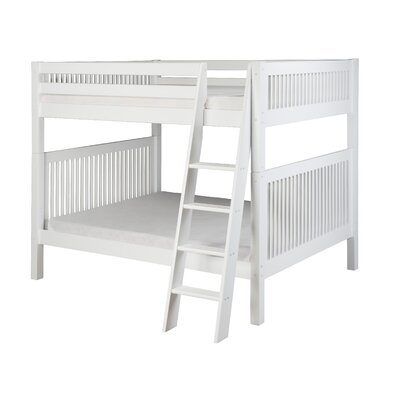Full over Full Bunk Bed Finish: White