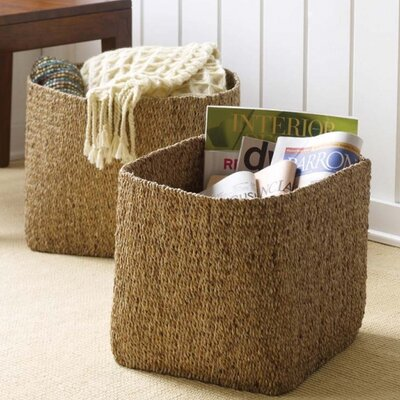 Design Ideas Water Hyacinth 2 Piece Basket Set 5513609