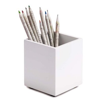 Simple Structure Pencil Cup Color: White 3483401