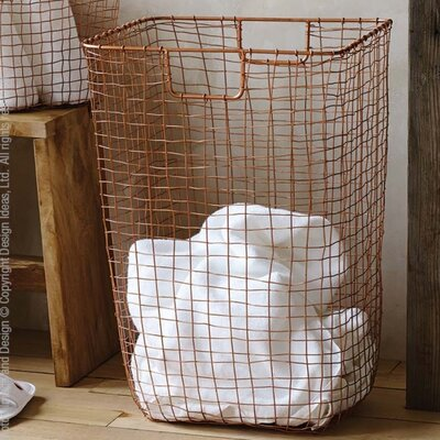 Cabo Laundry Hamper Color: Copper