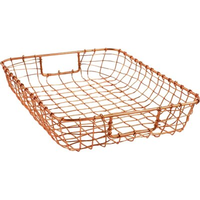 Cabo Letter Basket Color: Copper