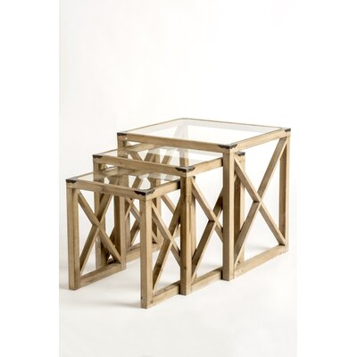 Emma 3 Piece Nesting Tables Color: Gold
