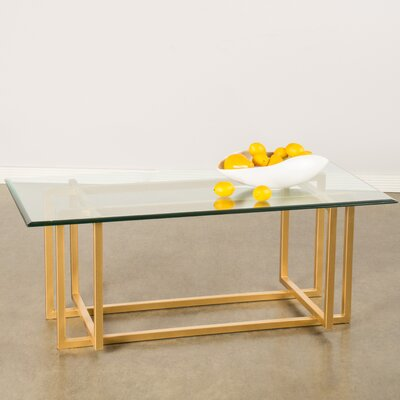 Logan Coffee Table Base Color: Gold