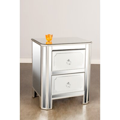 Naomi 2 Drawer Nightstand