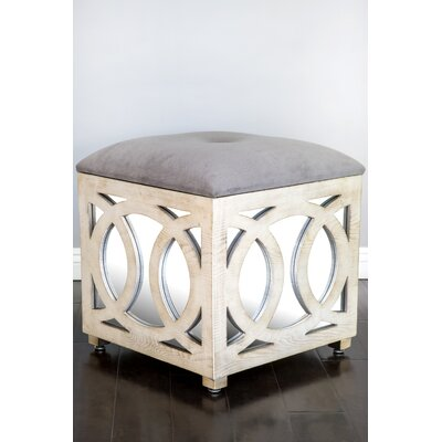 Tyra Mirrored Cube Ottoman
