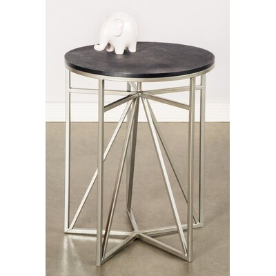 Athena End Table Top / Base Color: Black / Silver