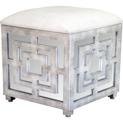 Reena Mirrored Cube Ottoman