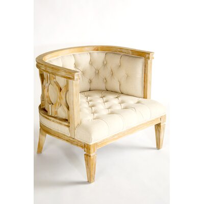 Milly Barrel Chair Upholestry Color: Beige