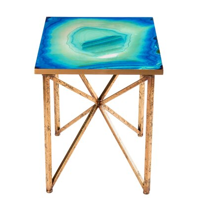 Bleu Agate End Table