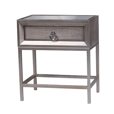 Alaraph Wooden 1 Drawer End Table