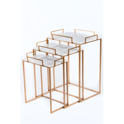 Set/3 Gold Nesting Tables