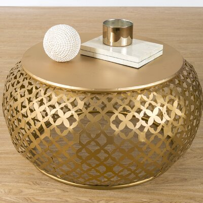 Hallie Coffee Table Color: Gold